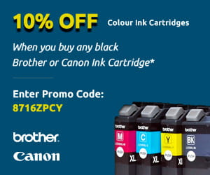 Buy a black ink cartridge and Save 10% on the colour cartridges