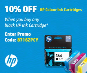 Buy a Genuine black ink cartridge and Save 10% on colour cartridges.