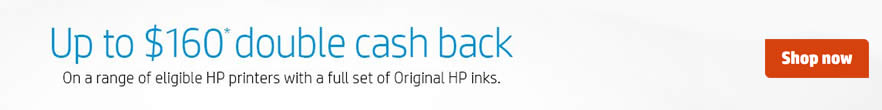 HP Double Cash Back Offer