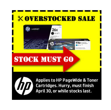 HP toner and Pagwide stocks must clear