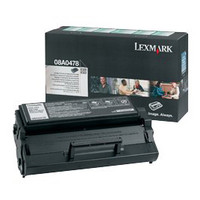 Lexmark 08A0478 Black Prebate Toner Cartridge - High Yield
