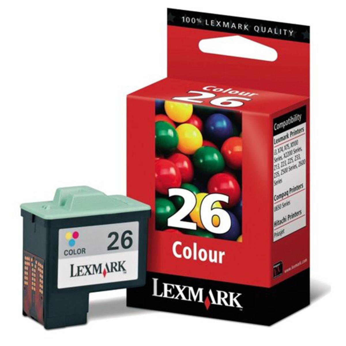 Lexmark 26 Black Colour Ink Cartridge