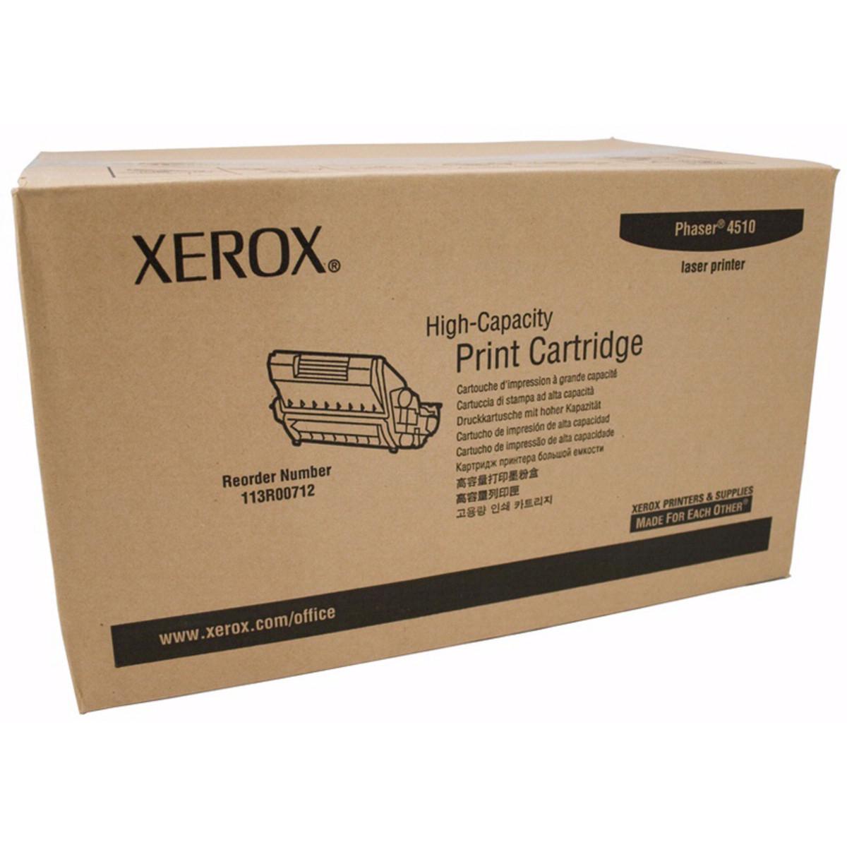 Xerox 113R00712 Black Toner Cartridge - High Yield
