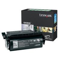 Lexmark 12A5840 Black Prebate Toner Cartridge