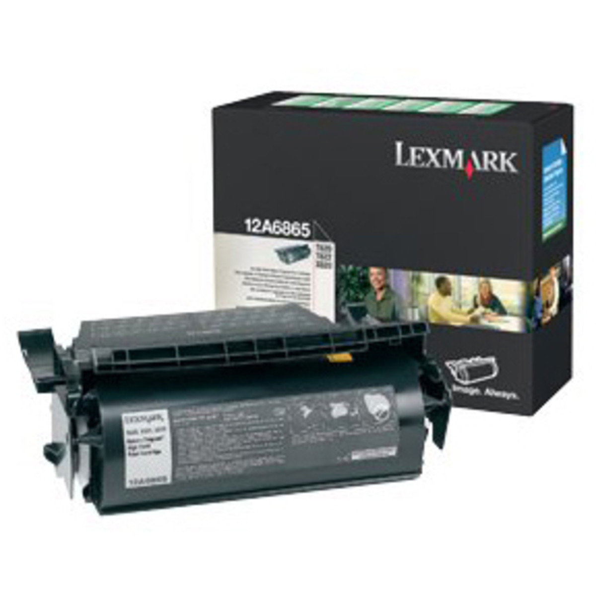 Lexmark 12A6865 Black Toner Cartridge - High Yield