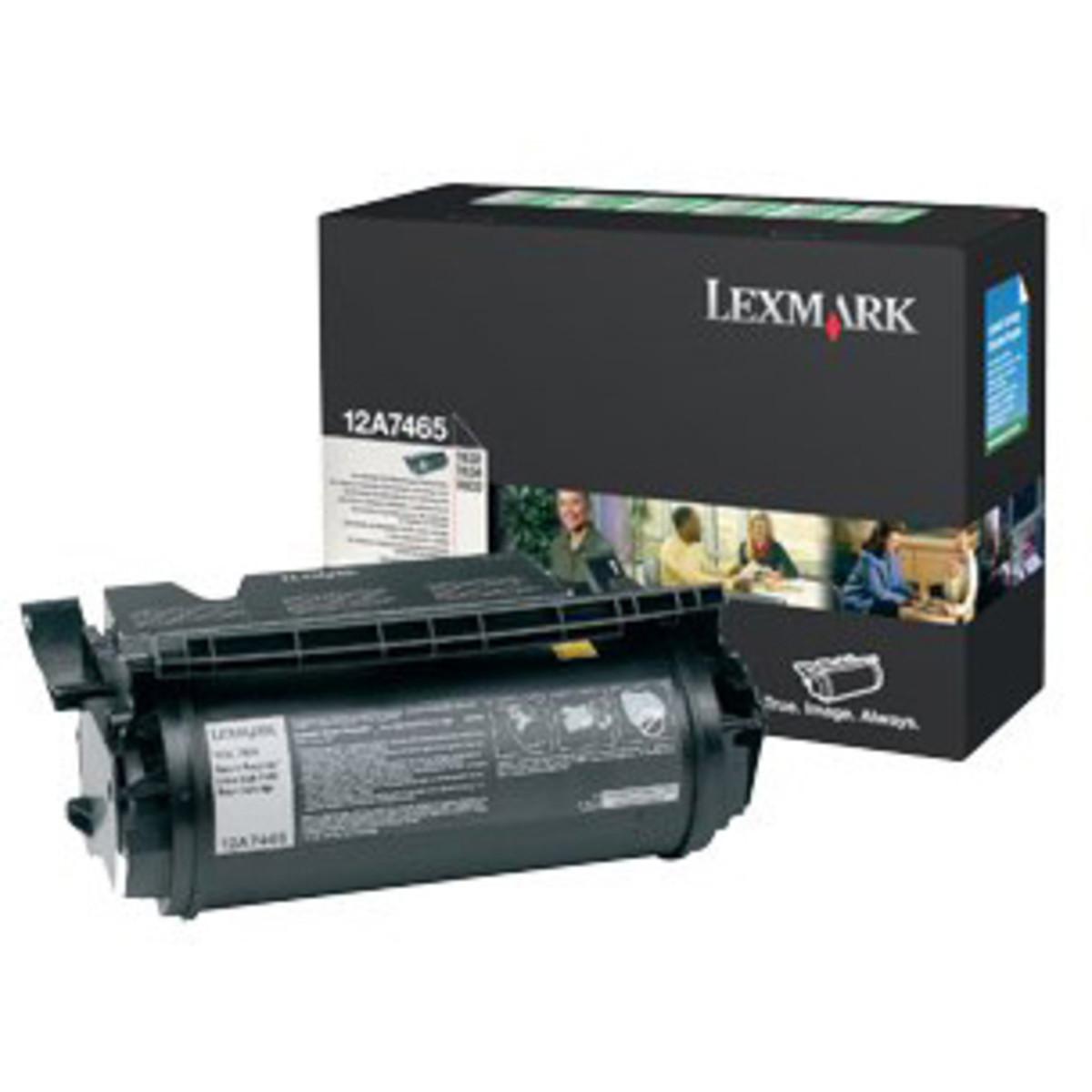 Lexmark 12A7465 Black Toner Cartridge