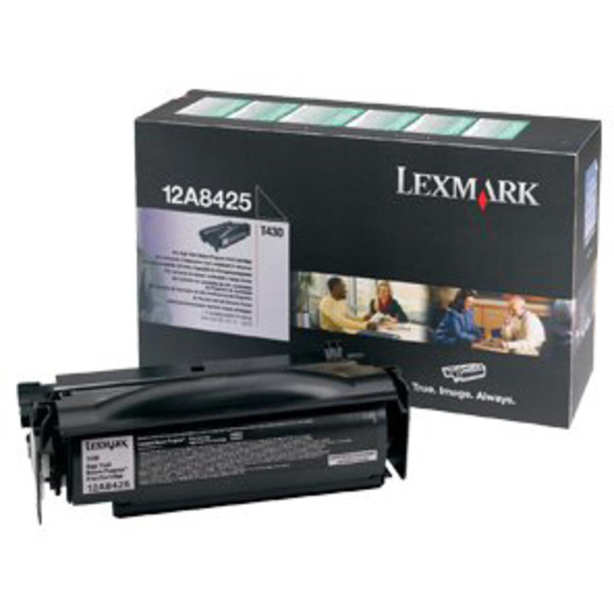 Lexmark 12A8425 Black Toner Cartridge - High Yield