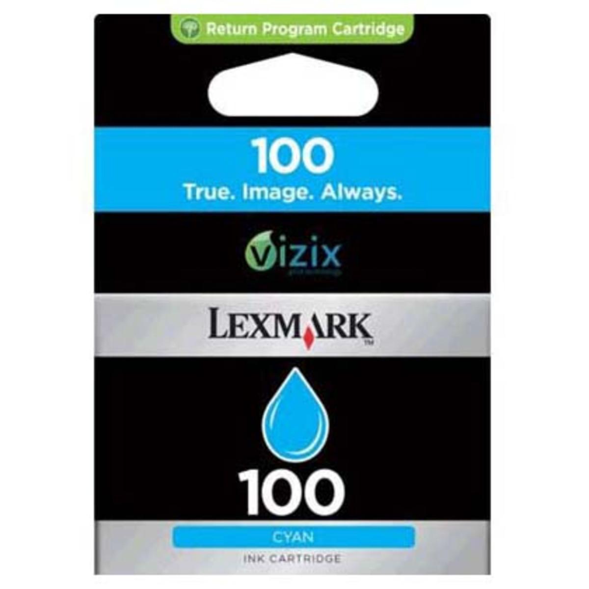 Lexmark 100 Cyan Ink Cartridge