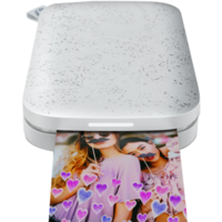 HP Sprocket 200 Photo Printer in Luna White