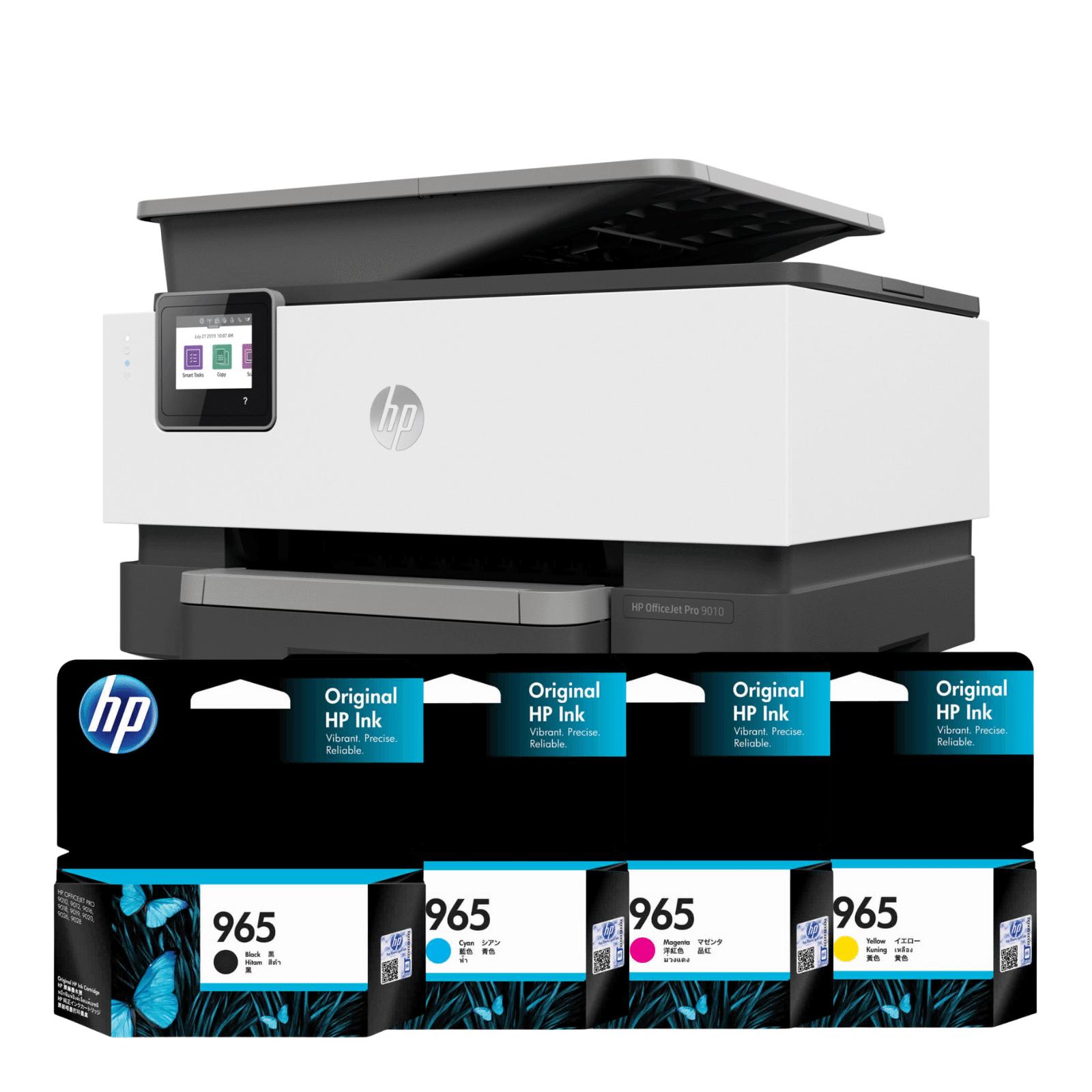 HP OfficeJet Pro 9010 All in One Inkjet Printer & Ink