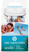 HP ZINK Sticky-backed 20 sht/2 x 3 in Gloss White photo paper