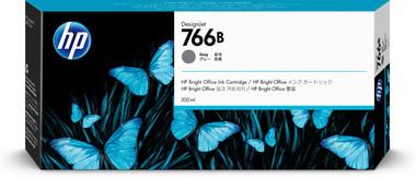 HP 766B 300-ml Gray DesignJet Ink Cartridge