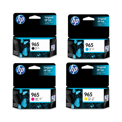 HP 965 Ink Cartridge Value Pack - Includes: [1 x Black, Cyan, Magenta, Yellow]