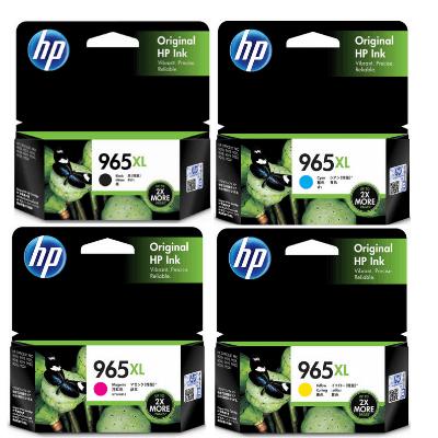 HP 965XL Ink Cartridge Value Pack - Includes: [1 x Black, Cyan, Magenta, Yellow]