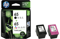 HP 65 Black and Colour Combo Pack