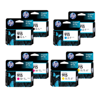 HP 915 Ink Cartridge Value Pack - Includes: [2 x Black, Cyan, Magenta, Yellow]