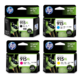 HP 915XL Ink Cartridge Value Pack - Includes: [1 x Black, Cyan, Magenta, Yellow]
