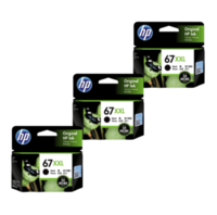 HP 67XXL Ink Cartridge Value Pack - Includes: [3 x Black]