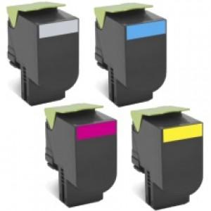 Lexmark 708X Toner Cartridges Value Pack - Includes: [1 x Black, Cyan, Magenta, Yellow]