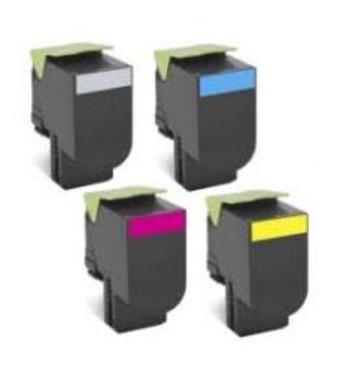 Lexmark 708XX Toner Cartridges Value Pack - Includes: [5 x Black]