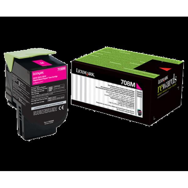 Lexmark 708M Magenta Toner Cartridge (Original)