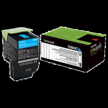 Lexmark 708HC Cyan Toner Cartridge (Original)