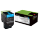 Lexmark 708HC Cyan Toner Cartridge - High Yield