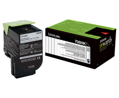 Lexmark 708HK Black Toner Cartridge - High Yield