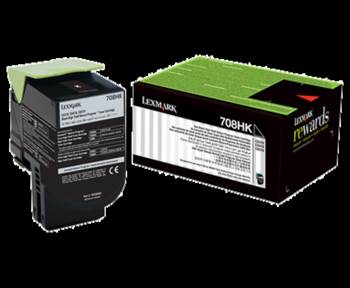Lexmark 708HK Black Toner Cartridge - High Yield