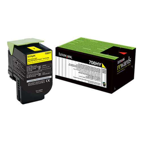 Lexmark 708H Yellow Toner Cartridge (Original)