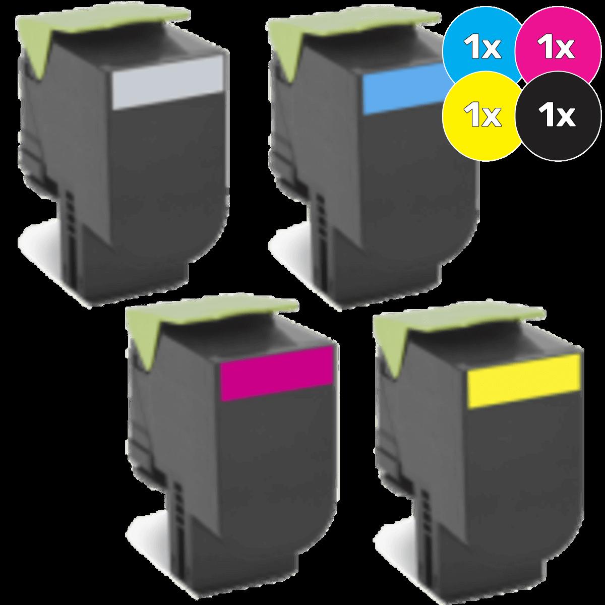 Lexmark Toner Cartridges Value Pack - Includes: [1 x Black, Cyan, Magenta, Yellow]