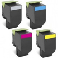 Lexmark Toner Cartridges Value Pack - Includes: [1 x Black, Cyan, Magenta, Yellow]