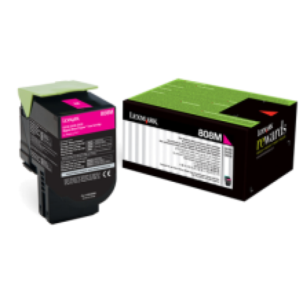 Lexmark 808 Magenta Toner Cartridge (Original)