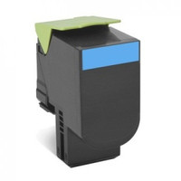 Lexmark 808HC Cyan Toner Cartridge - High Yield