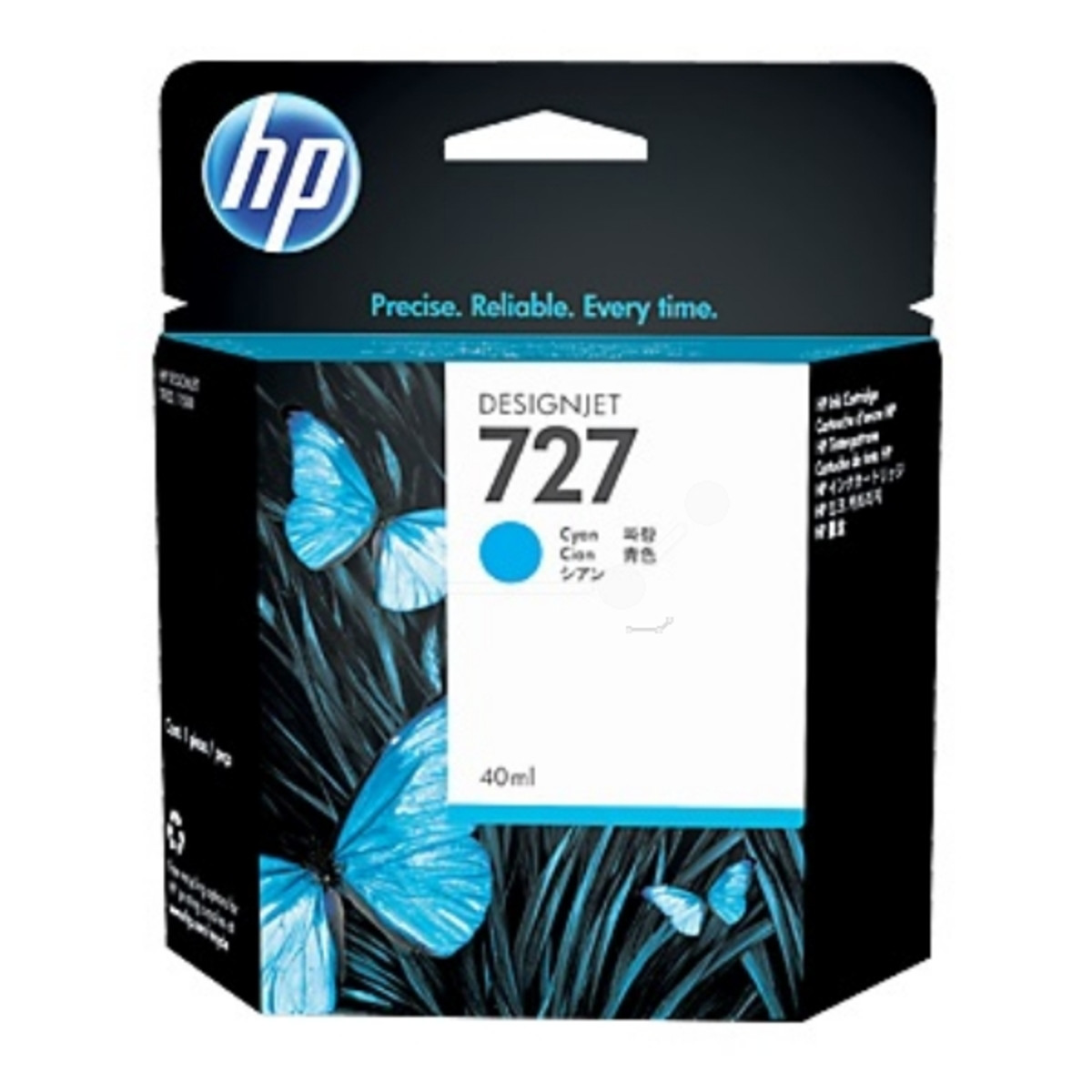 HP 727 (B3P13A) Cyan Ink Cartridge - 40 ml