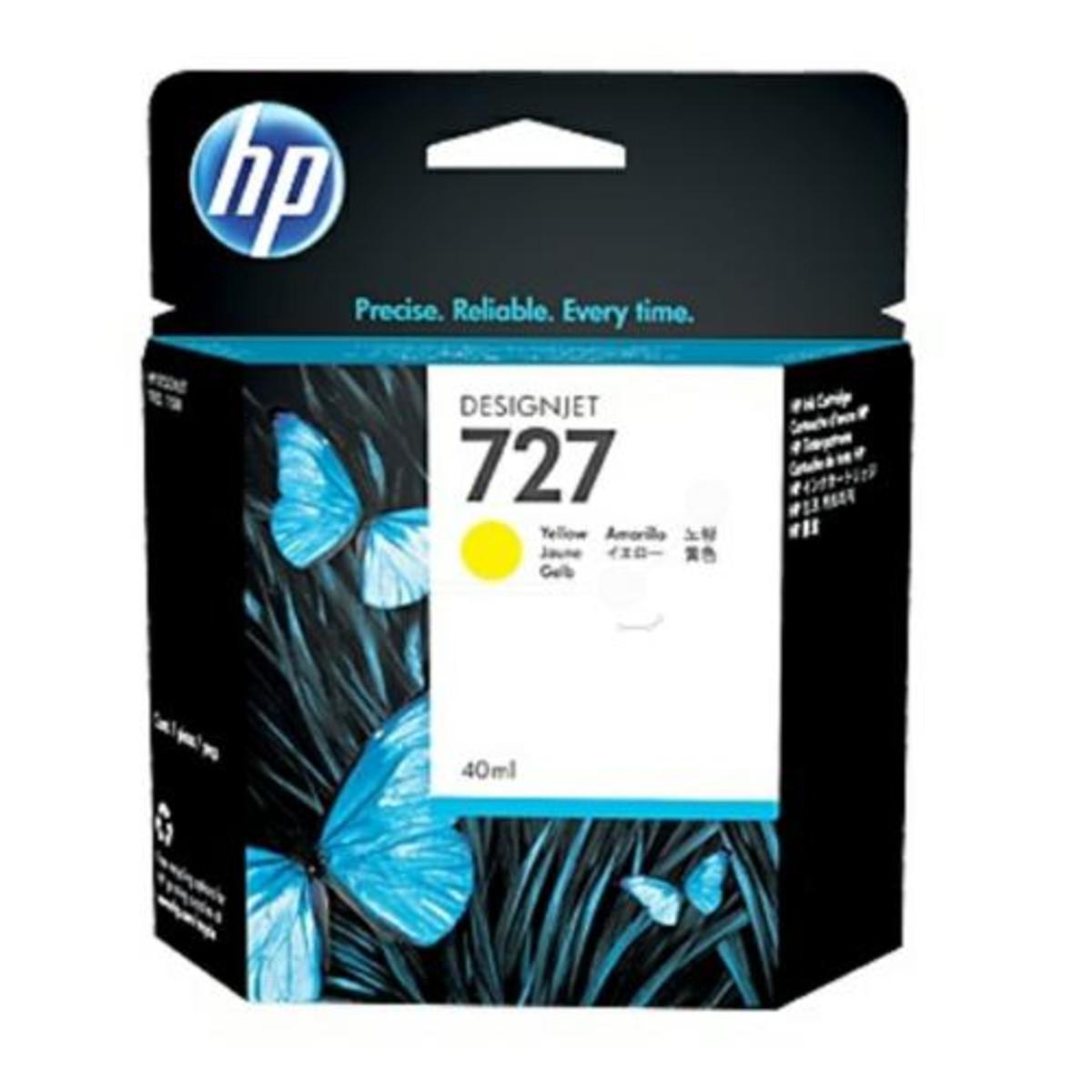 HP 727 (B3P15A) Yellow Ink Cartridge - 40 ml