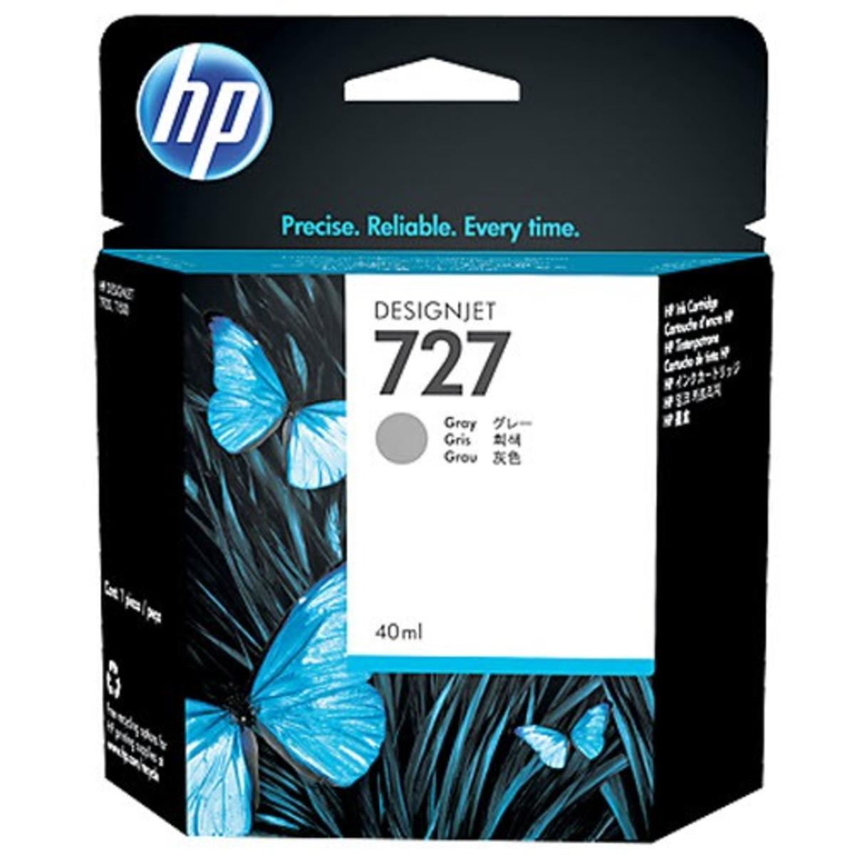 HP 727 (B3P18A) Grey Ink Cartridge - 40ml