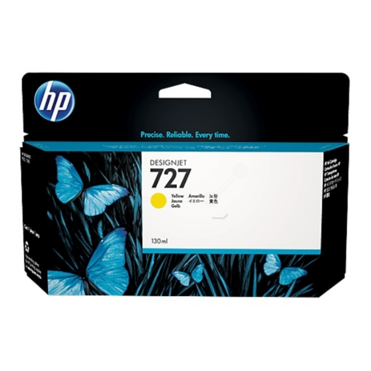 HP 727 (B3P21A) Yellow Ink Cartridge - 130ml