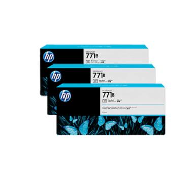 HP 771B 3-pack 775-ml Photo Black DesignJet Ink Cartridges