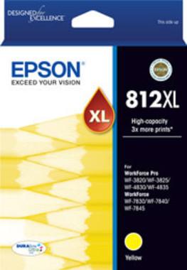 Epson 812XL Yellow Ink Cartridge (Original)