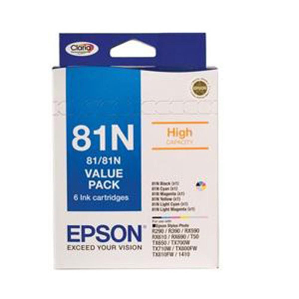 Epson 81N Colour Ink Cartridges - Bundle Pack
