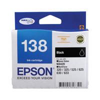 Epson 138 Black Ink Cartridge - High Yield