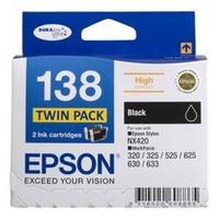 Epson 138 Black Ink Cartridges - Multi Pack