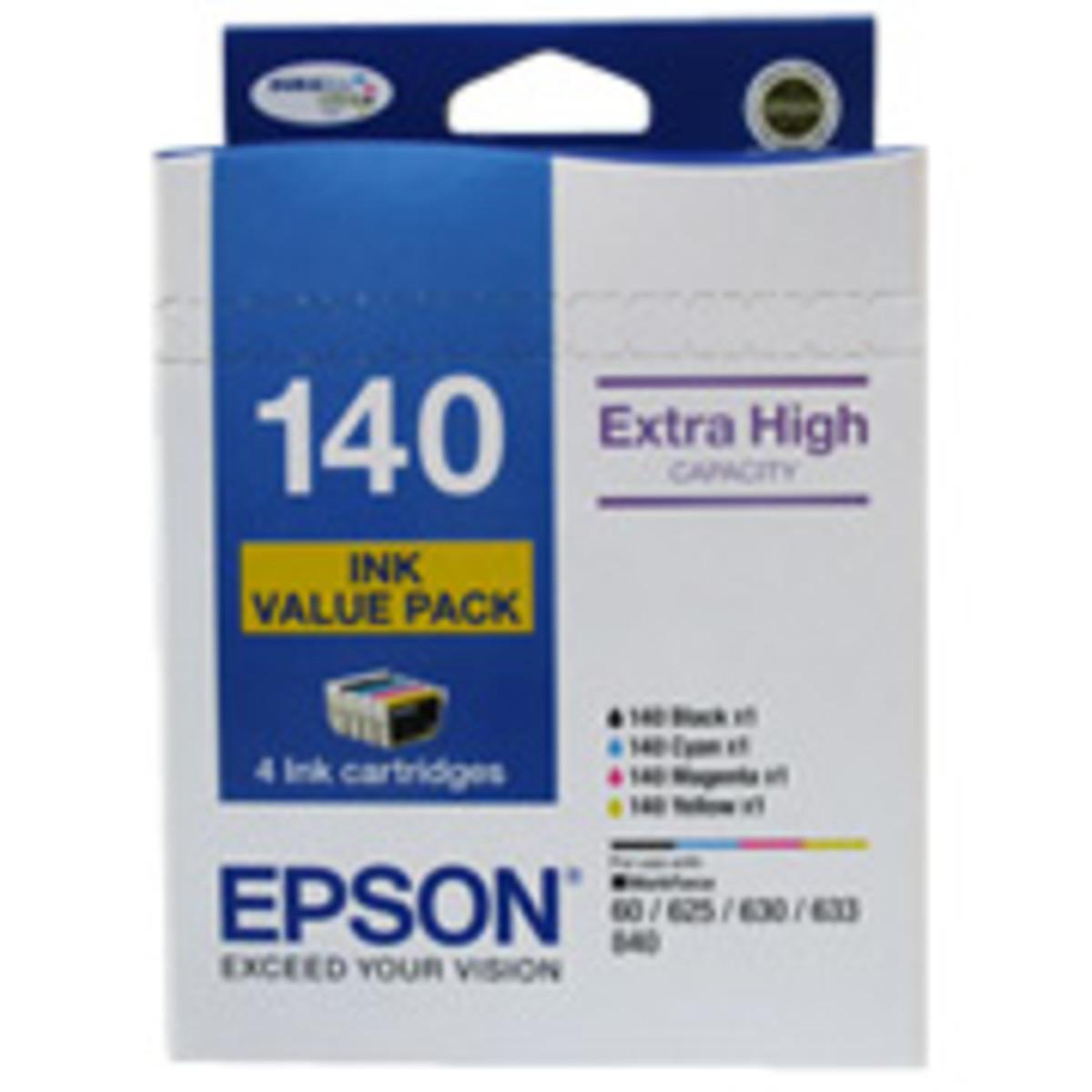 Epson 140 Colour Ink Cartridges - Value Pack