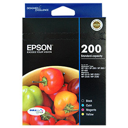 Epson 200 1 x Black, Cyan, Magenta, Yellow Ink Cartridge (Original)
