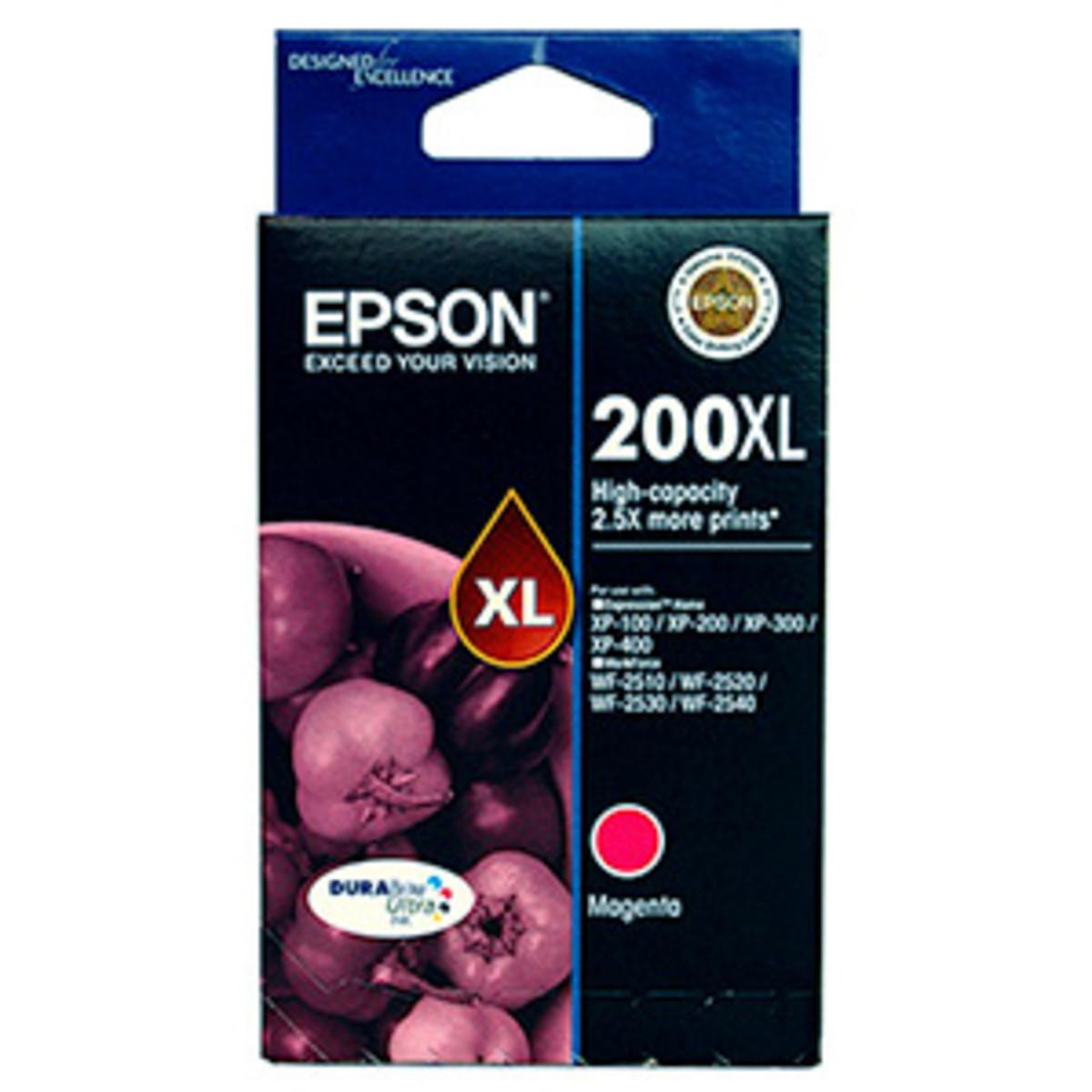 Epson 200XL Magenta Ink Cartridge - High Yield