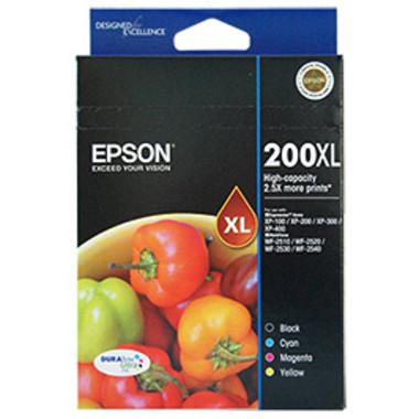 Epson 200XL 1 x Black, Cyan, Magenta, Yellow Ink Cartridge (Original)