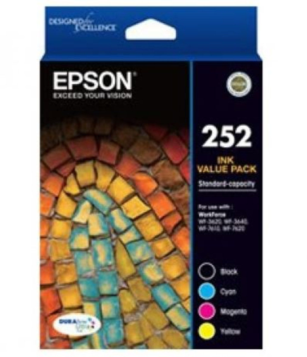 Epson 252 Colour Ink Cartridges - Value Pack