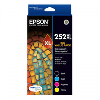 Epson 252XL Colour Ink Cartridges - Value Pack