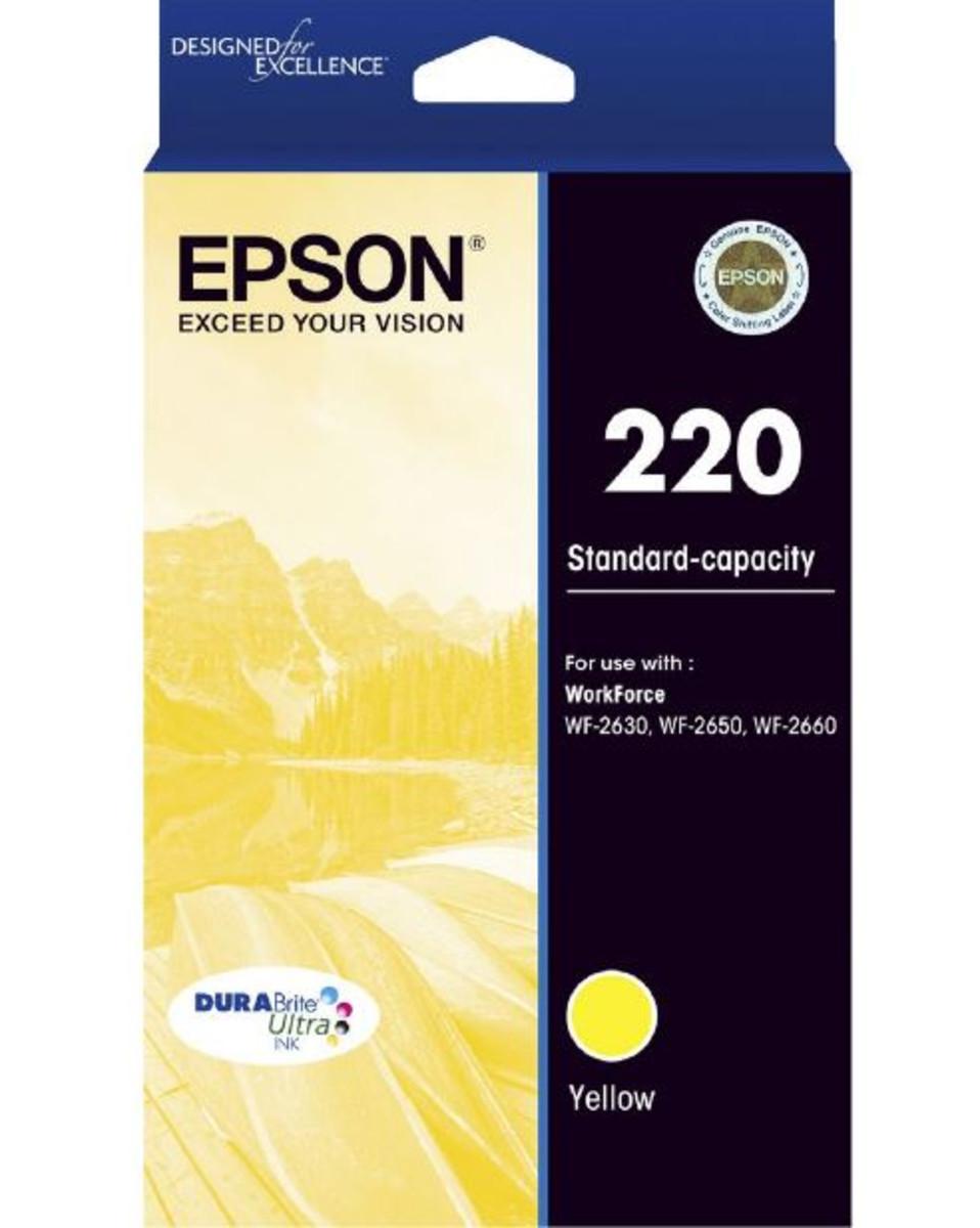 Epson 220 Yellow Ink Cartridge